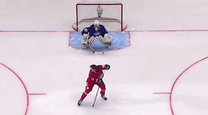 What In The World? This Goal Was Absolutely Disgusting by Nikola Gusev During the KHL Skills Competition [Video]