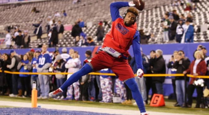 Odell Beckham Jr. Catches 33 1-Handed Passes in 1 Minute, Breaks World Record [Video]