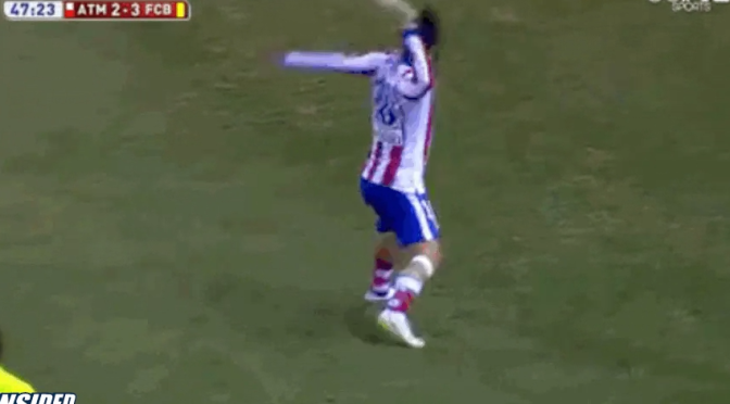 Arda Turan Threw A Shoe At The Linesman During the Atletico Madrid-Barcelona Match [Video]
