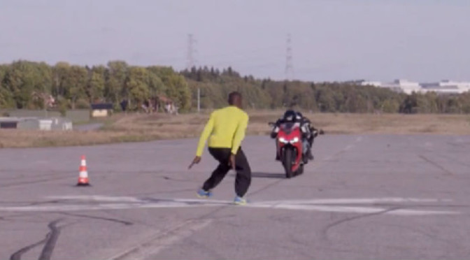 Watch Nutjob 'Al The Jumper' Jump Over Two Motorcycles Racing Towards Him At 70 MPH [Video]