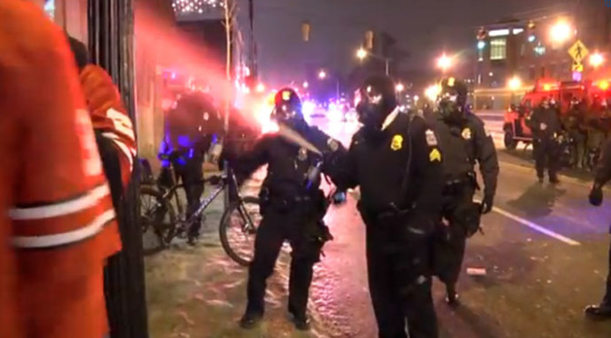 Columbus Police Pepper Spray and Tear Gas Ohio State Fans After School Wins National Championship