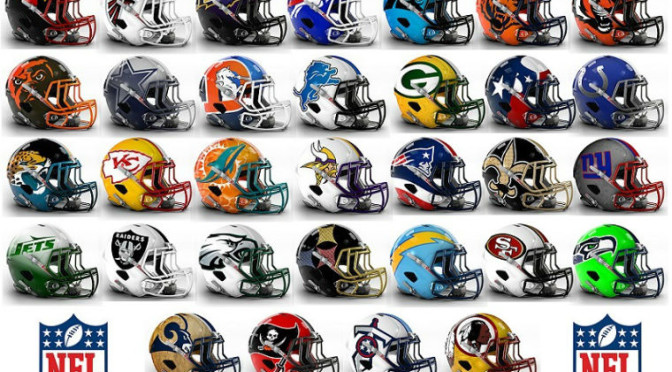 All 32 NFL Team Helmets Were Given A More Modern Redesign And The Results Are Awesome