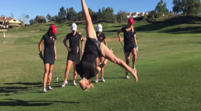 The San Diego State Women's Golf Team Released a Trick Shot Video That Features Some Crazy Acrobatics