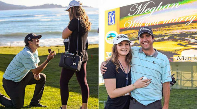 Golfer Mark Hubbard Proposed to His Girlfriend on 18th Hole at Pebble Beach