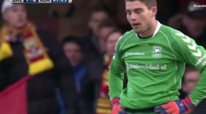 Dutch Goalie Whiffs Completely on Kick, Leads To Horrendously Embarrassing Own-Goal Fail [Video]