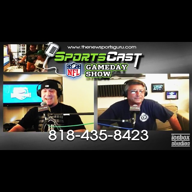 Great times on the #SportsCastNFLGameDayShow last night! Check it out on #iTunes and #YouTube! #Episode182 #FantasyFootballDraft #Boobies